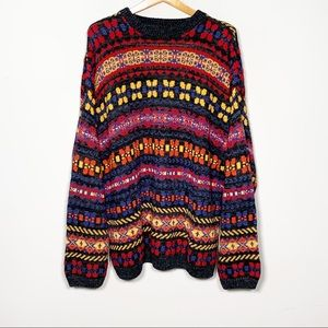 Vintage Structure Funky Chunky Knit Ramie Sweater